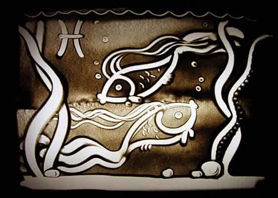 рисование на песке с музыкой